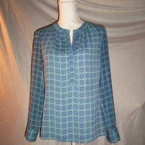 Banana Republic Blue Patterned Tunic